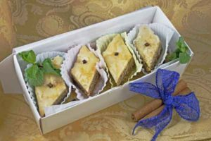 Baklava by Wilma comes gift boxed in this wonderful box. Give them as the best gifts.